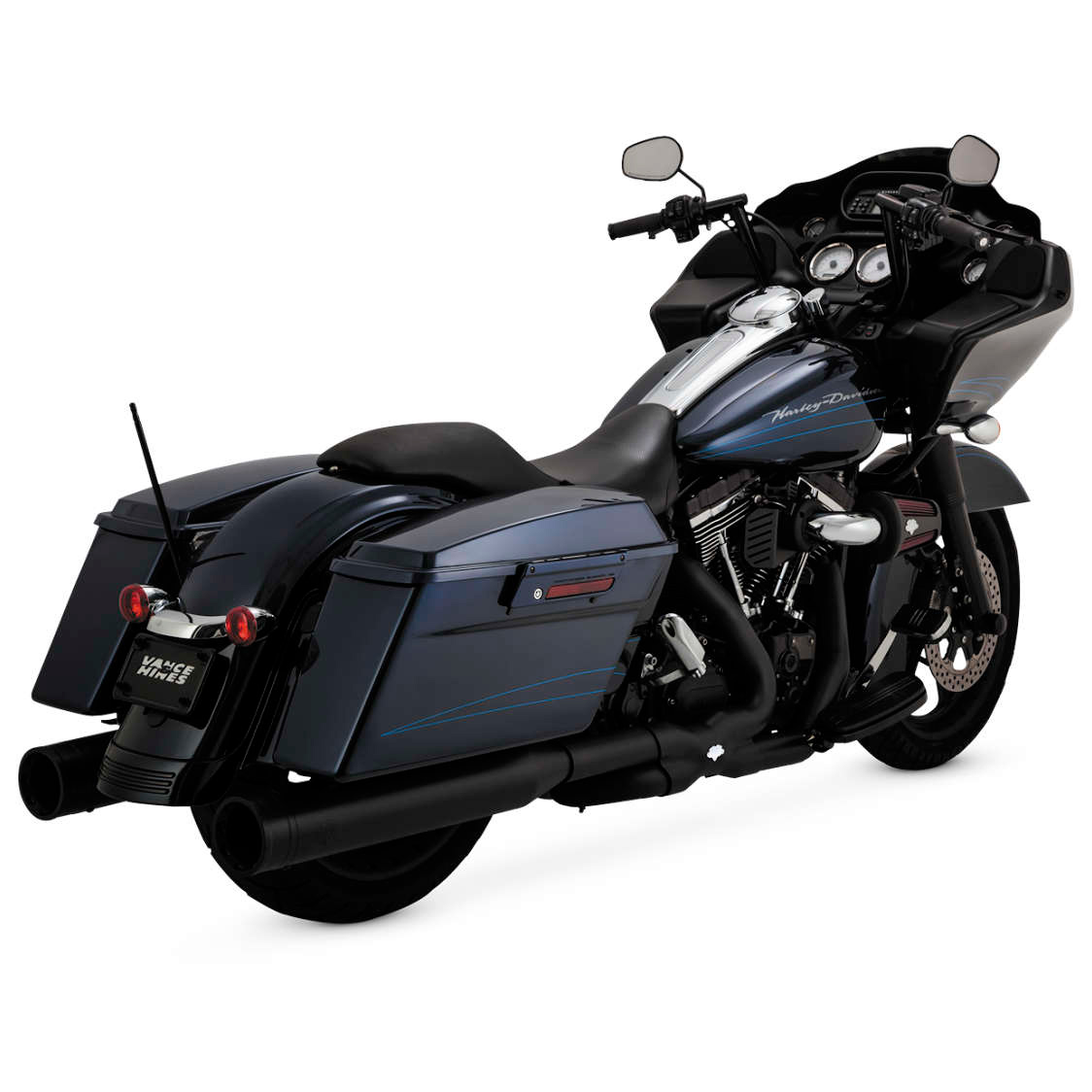Vance & Hines Power Duals CTR Exhaust System Black