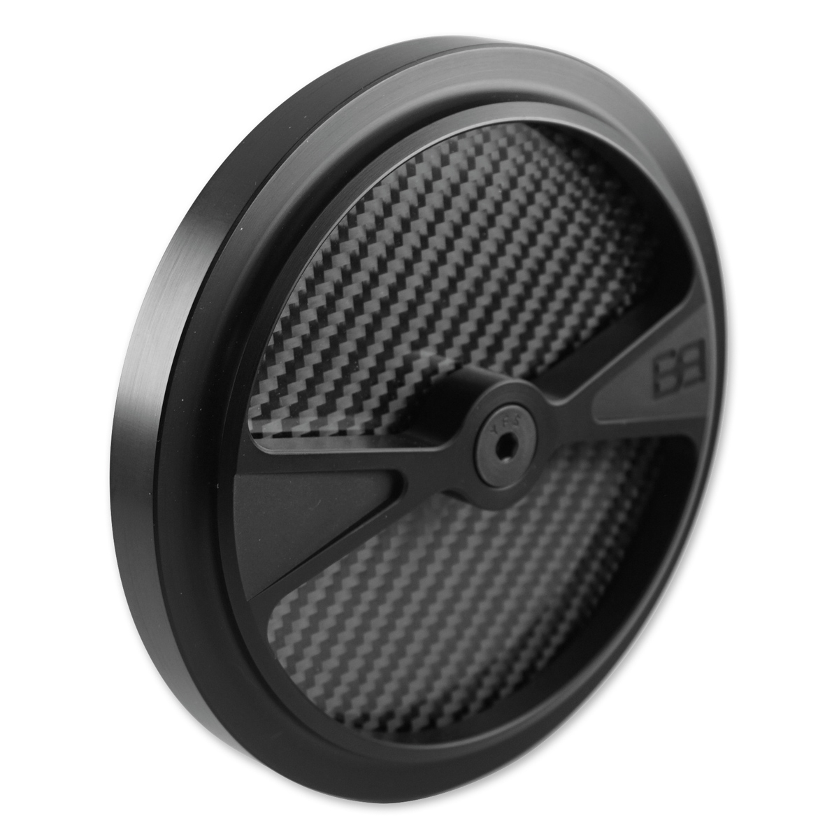 Brass Balls Cycles F1 Air Cleaner Cover for S&S Stealth Air Cleaners Black