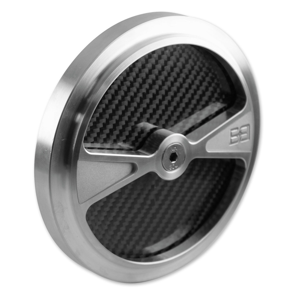 Brass Balls Cycles F1 Air Cleaner Cover for S&S Stealth Air Cleaners Natural