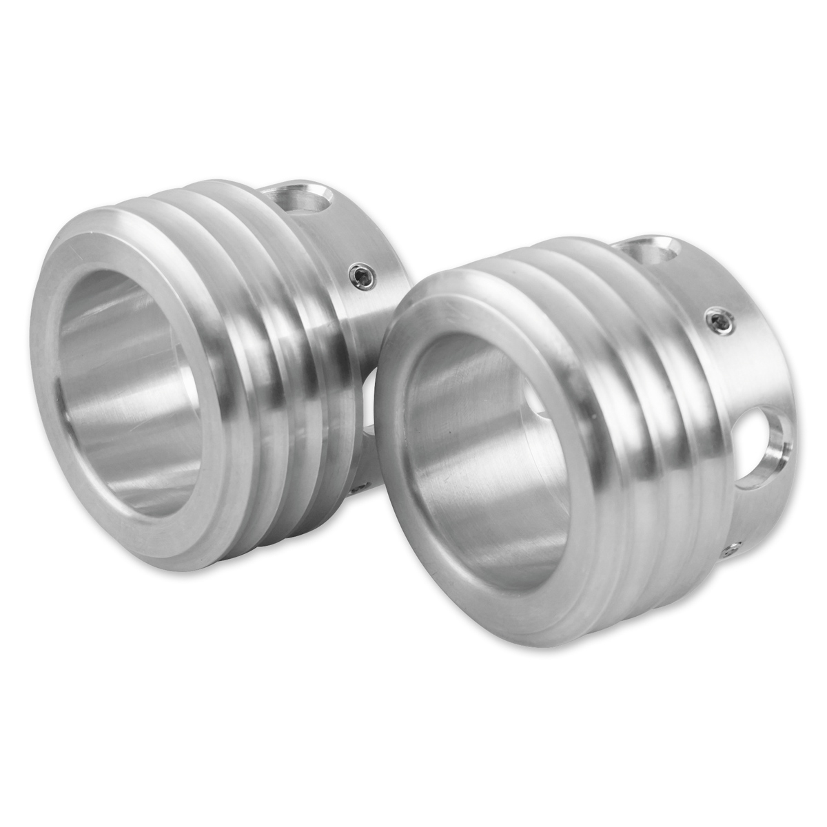 Brass Balls Cycles Ribbed Exhaust Tips Natural Finish