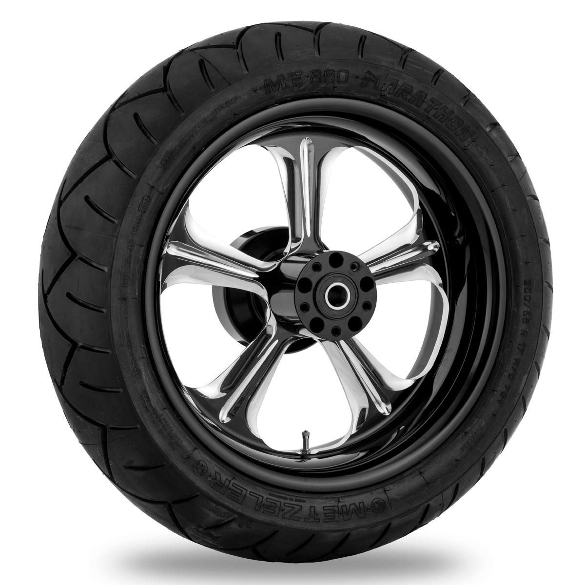 Performance Machine Wrath Platinum Cut Rear Wheel 18x3.5 Non-ABS