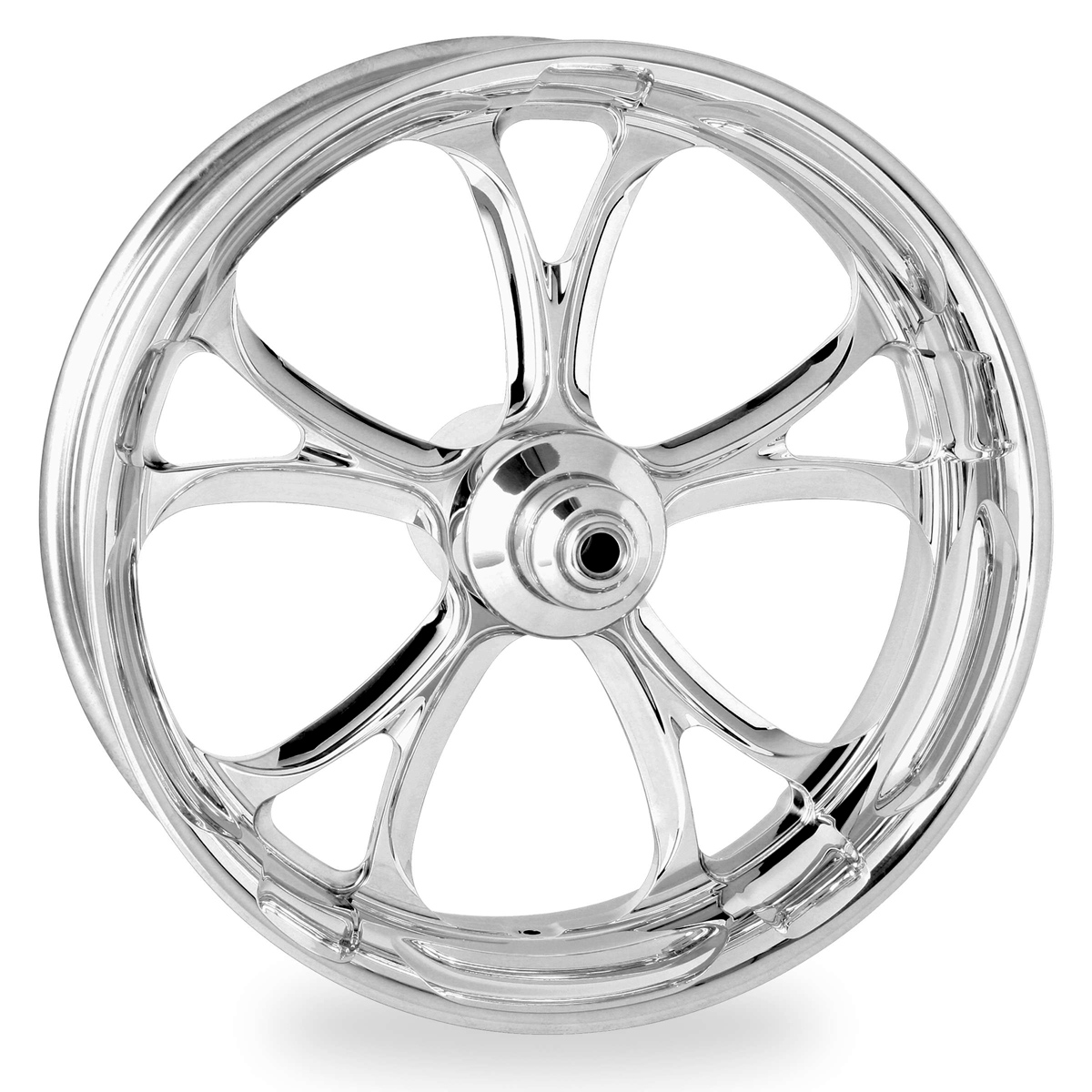 Performance Machine Luxe Chrome Front Wheel, 23