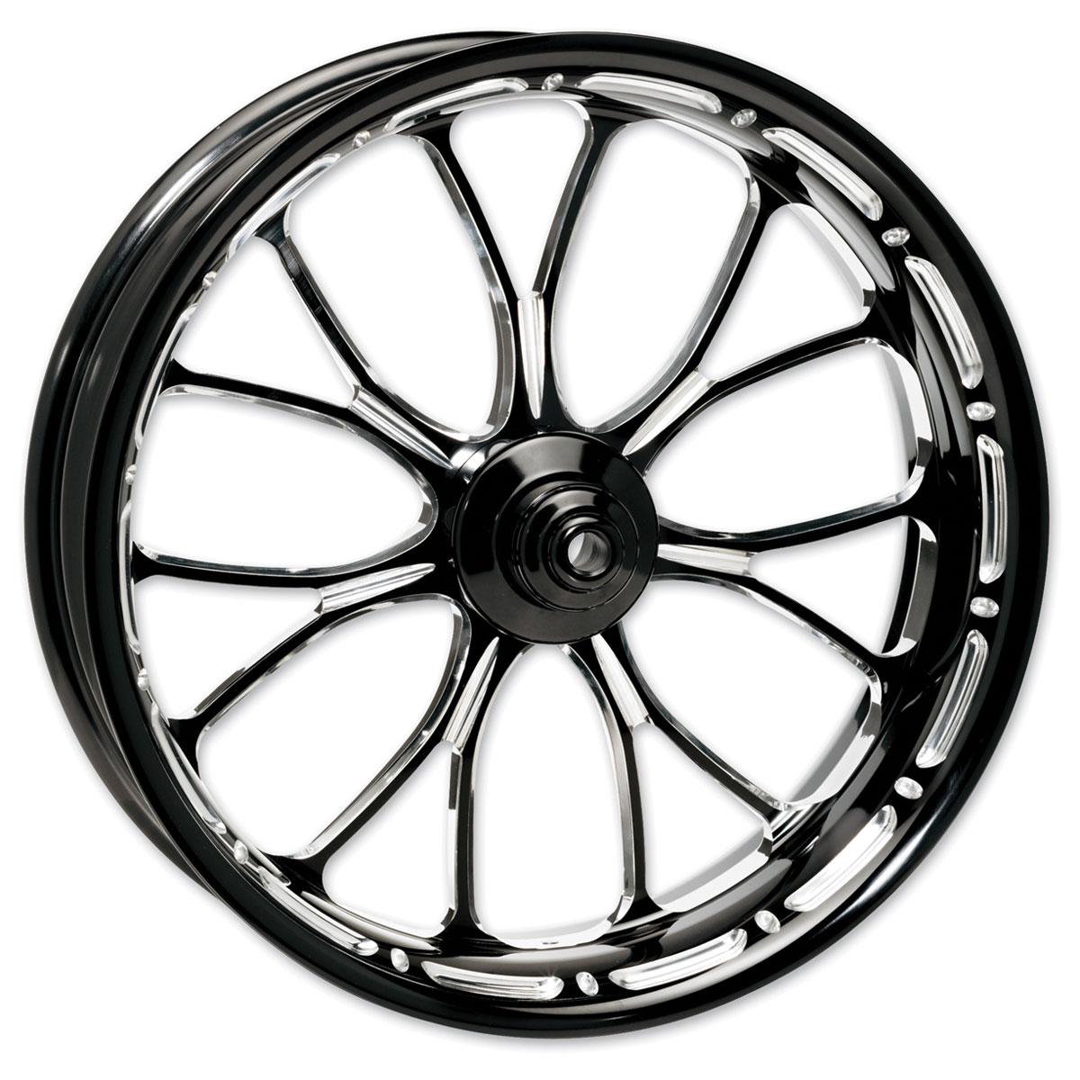 Performance Machine Heathen Platinum Cut Front Wheel 18x3.5 Non-ABS Dual Disc
