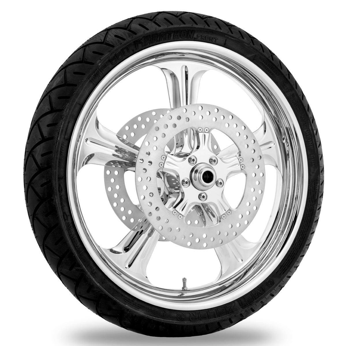 Performance Machine Wrath Chrome Front Wheel 19x3 Non-ABS