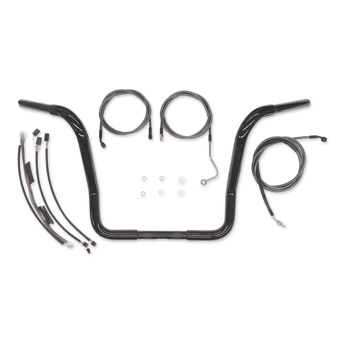 Magnum 1-1/4″ Black 16″ Caliber Bagger Bar with Install KIT