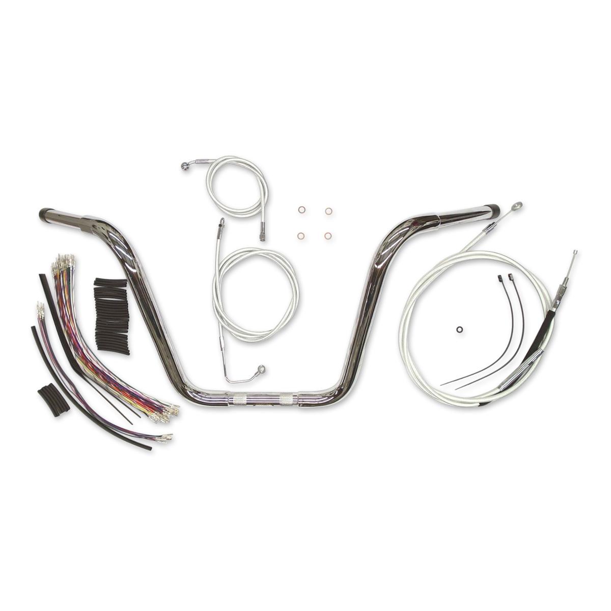 Magnum 1-1/4″ Chrome 16″ Caliber Ape Hanger With Install Kit