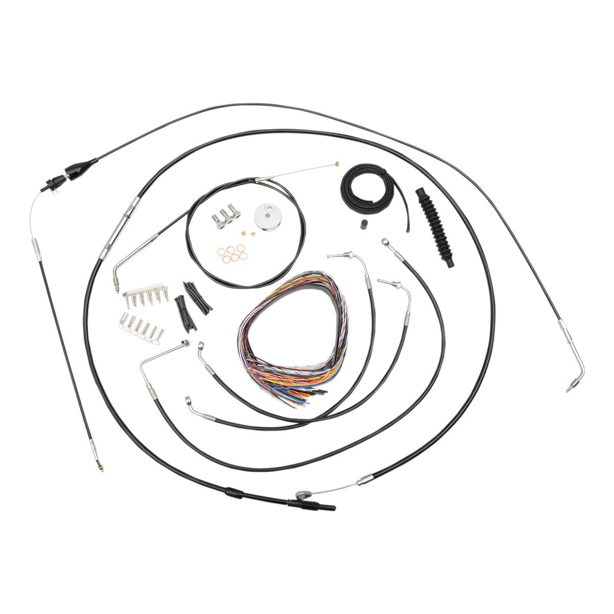 LA Choppers Black Complete Cable/Line/Wiring Handlebar Kit for Mini Ape Bars