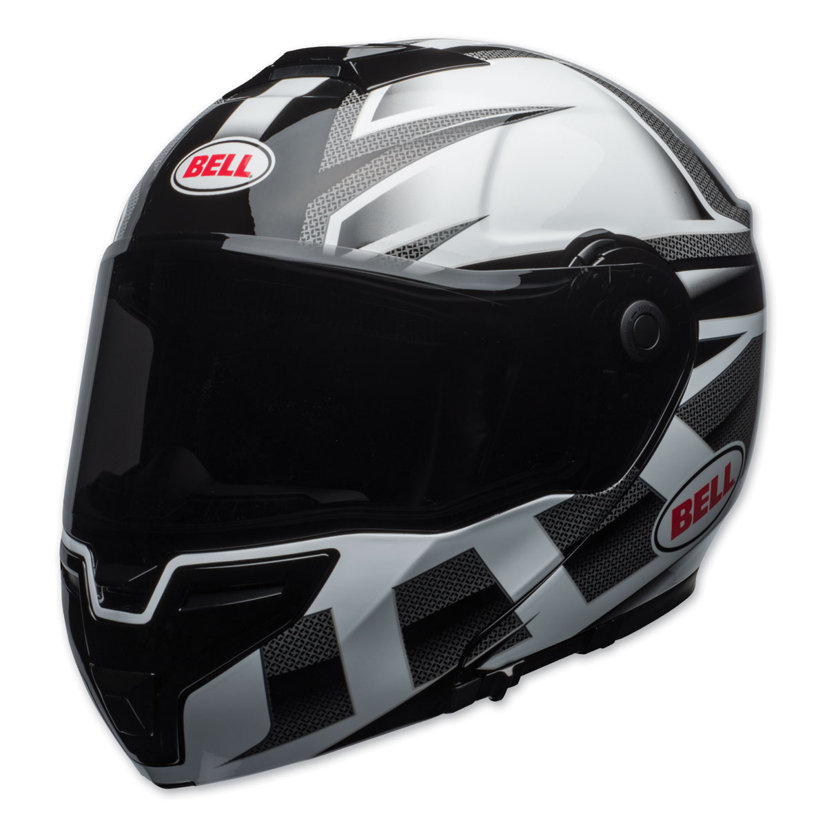 Bell SRT Predator Gloss White/Black Modular Helmet