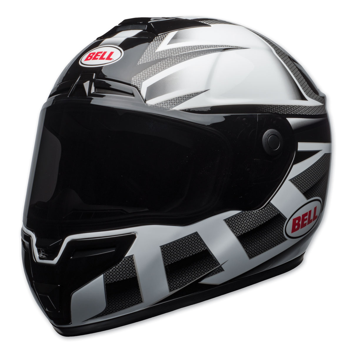 Bell SRT Predator Gloss White/Black Full Face Helmet