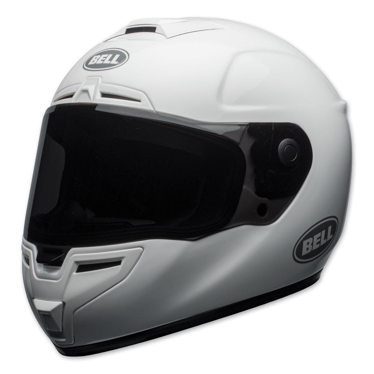 Bell Full Face Helmet >> Bell Srt Gloss White Full Face Helmet 7092364 Jpcycles Com