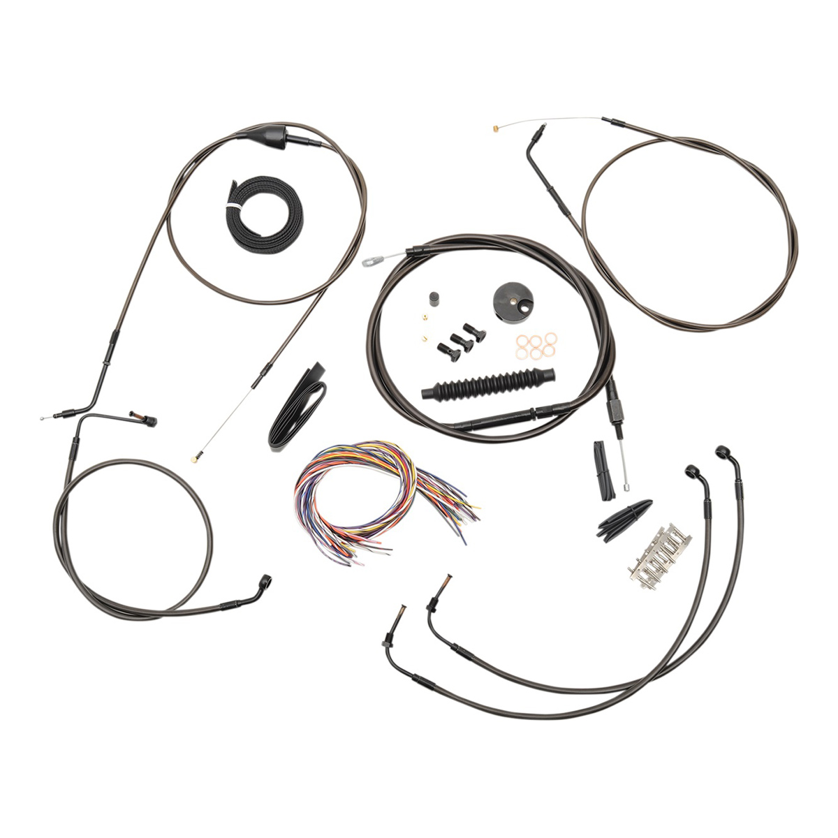 LA Choppers Midnight Complete Cable/Line/Wiring Handlebar Kit for Mini Ape Bars