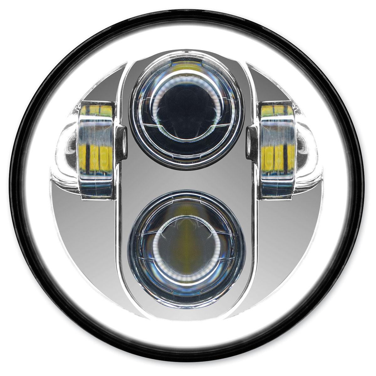HogWorkz 5-3/4″ LED Chrome HaloMaker Headlight