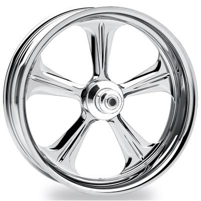 Performance Machine Wrath Chrome Rear Wheel 17x6 Non-ABS