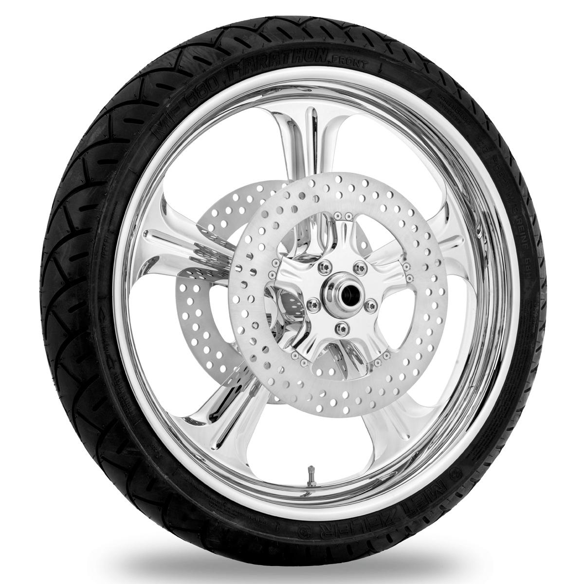 Performance Machine Wrath Chrome Front Wheel, 21