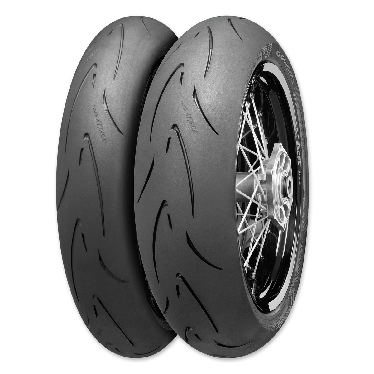 Continental Attack SM 120/70HR17 Front Tire