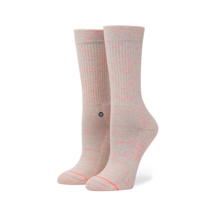 Stance Women's Uncommon Classic Crew Pink Socks