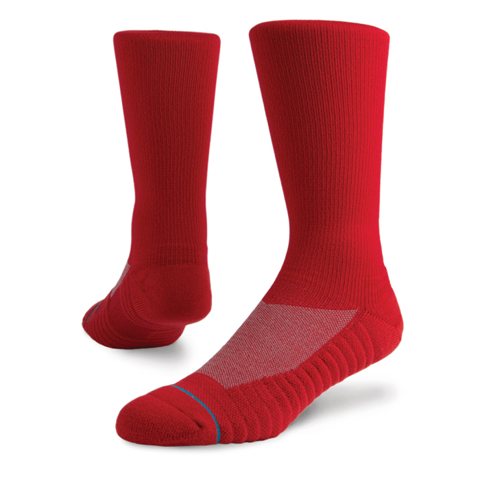 Stance Men's Athletic Icon Red Socks