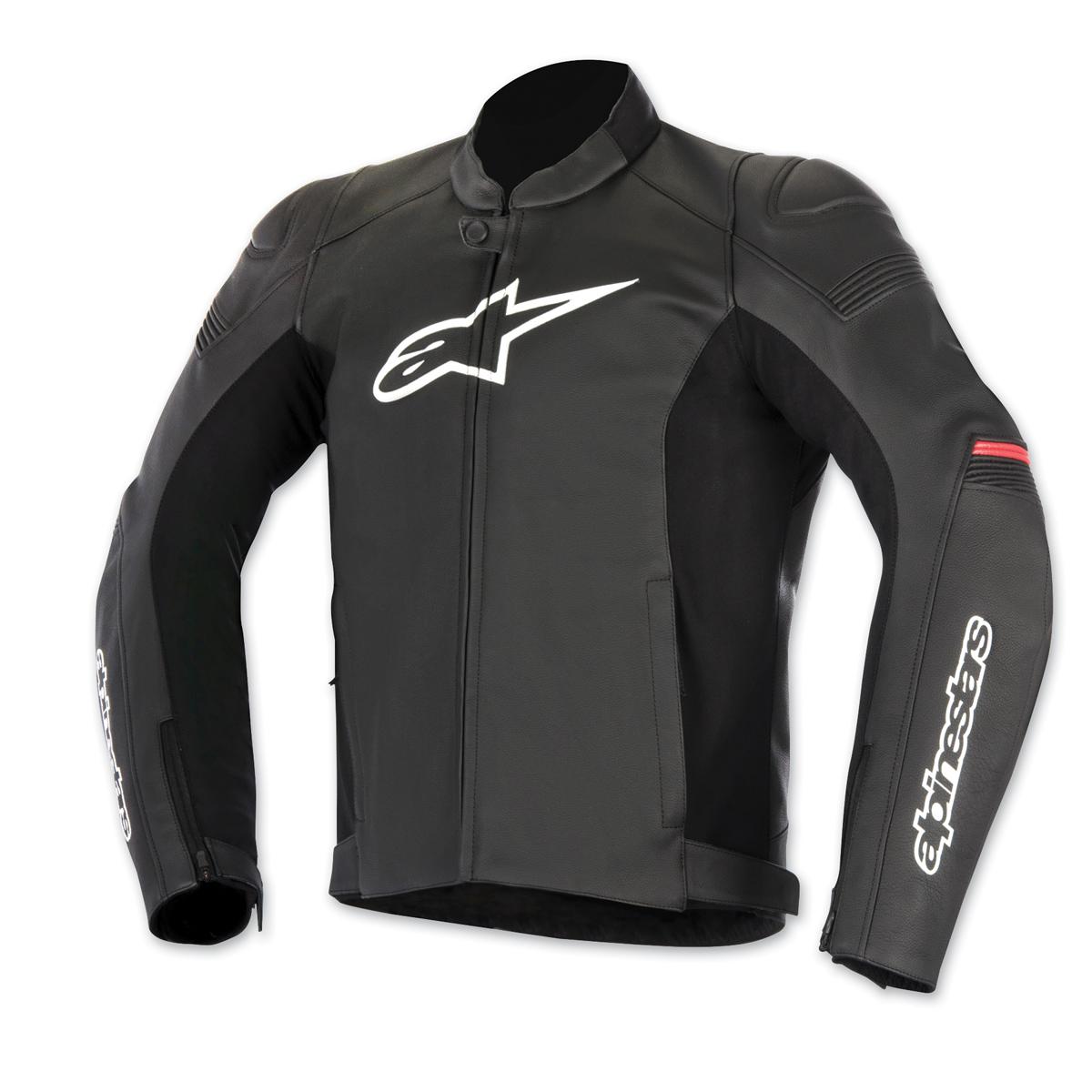 Alpinestars Men's SP-1 Black/Red Leather Jacket