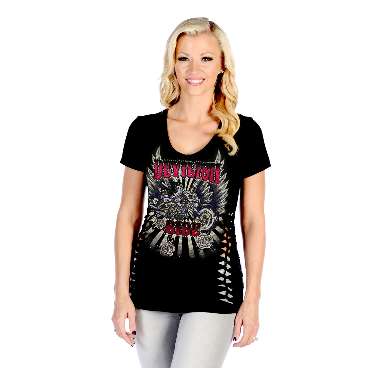 Liberty Wear Women's Devilish Ride Black Top