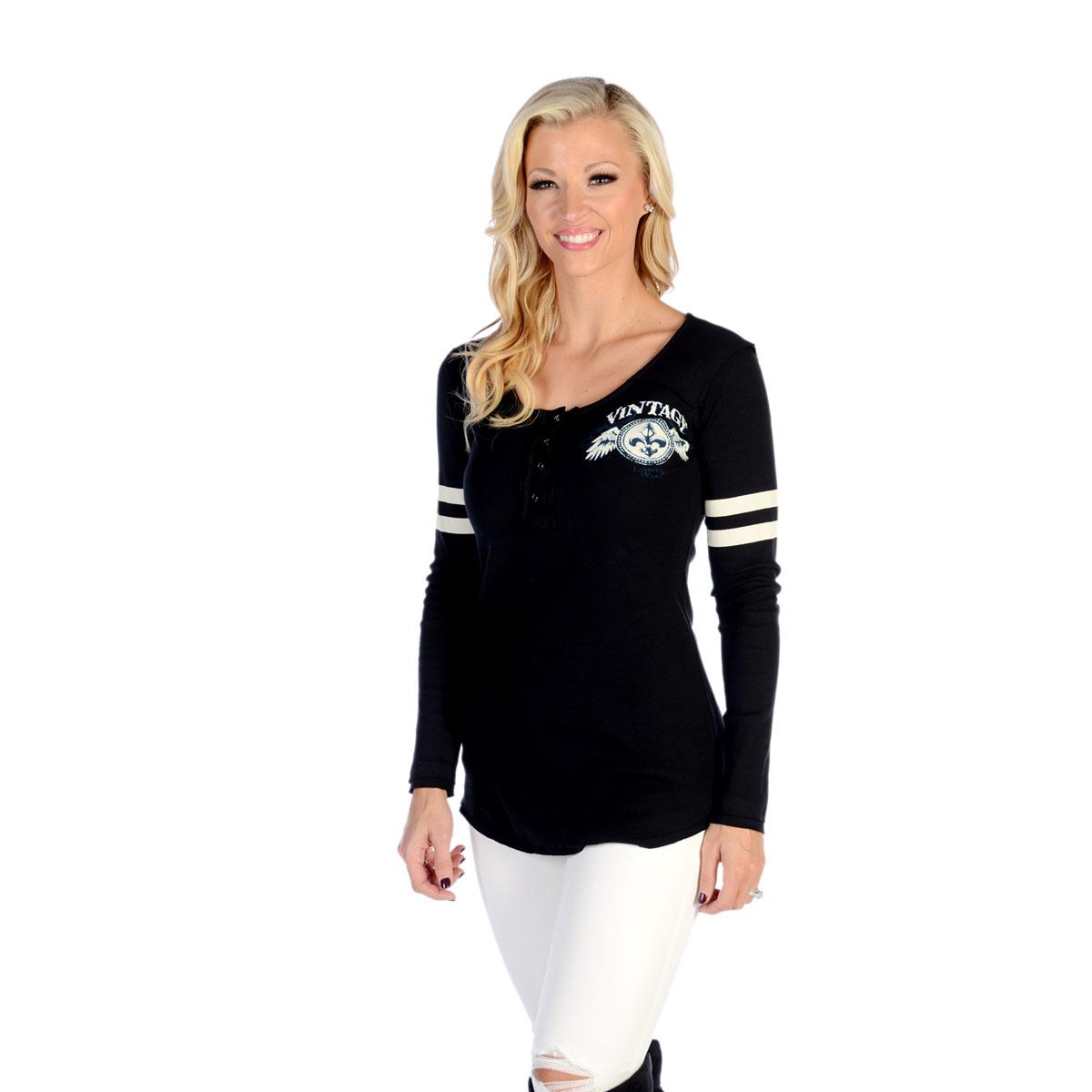 a6a1ee55003 Liberty Wear Women s Vintage Love Black Long-Sleeved T-Shirt - 7296 ...