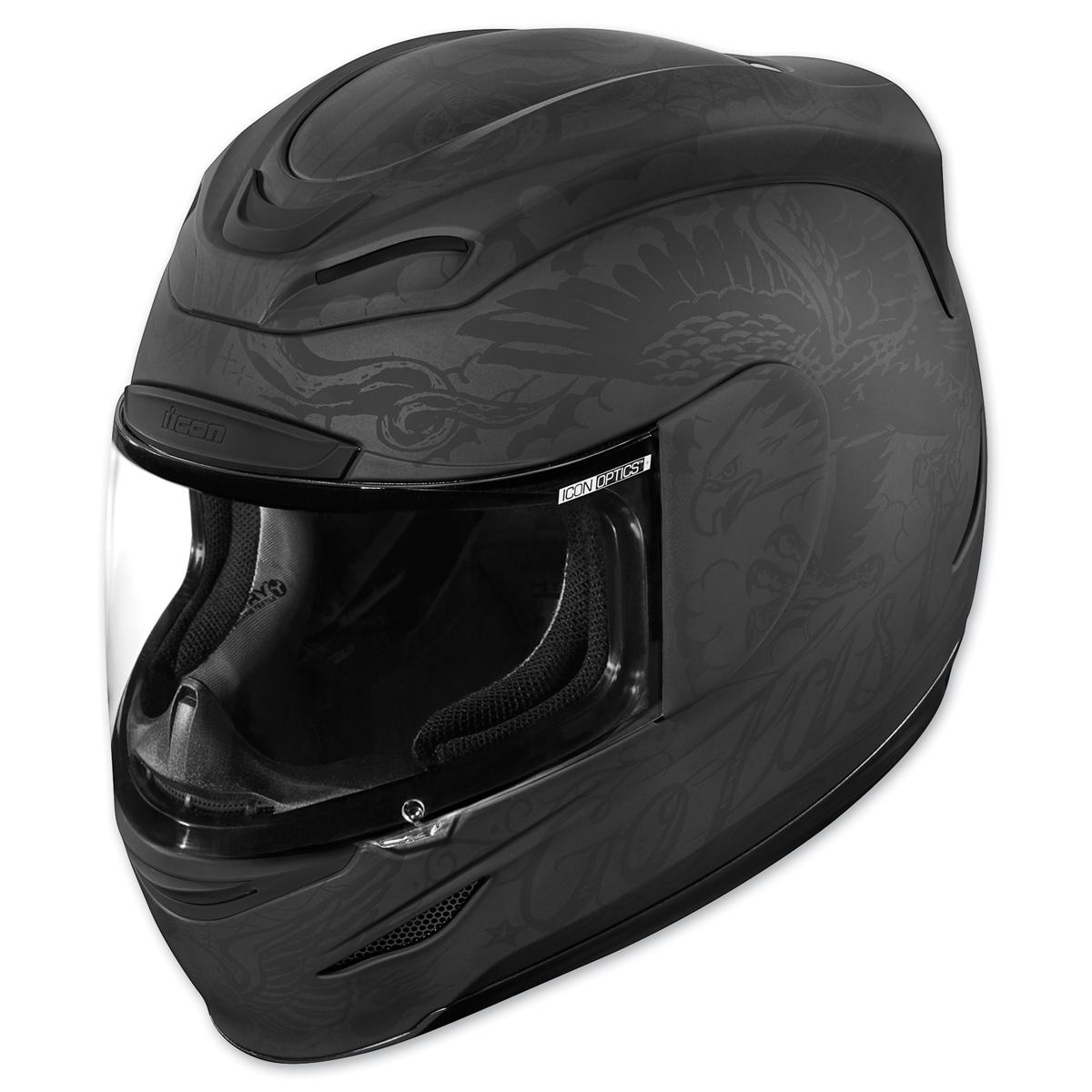 ICON Airmada Scrawl Black Full Face Helmet