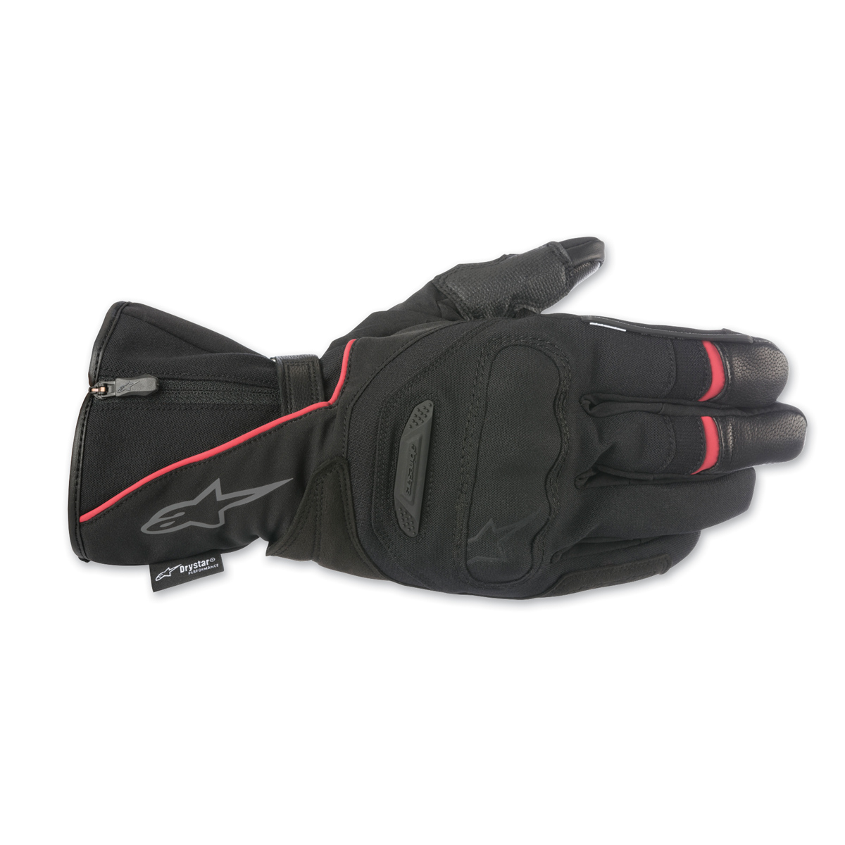 Alpinestars Men's Primer Drystar Black/Red Leather Gloves