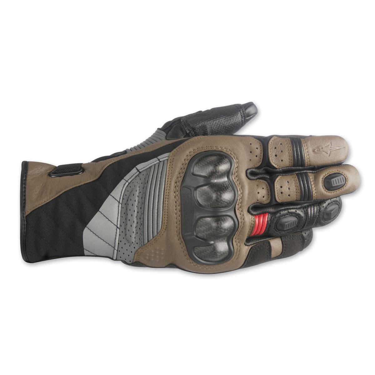 Alpinestars Men's Belize Drystar Black/Brown/ Red Gloves
