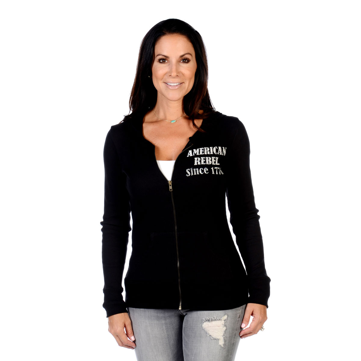 Liberty Wear Women's American Rebel Black Hoodie