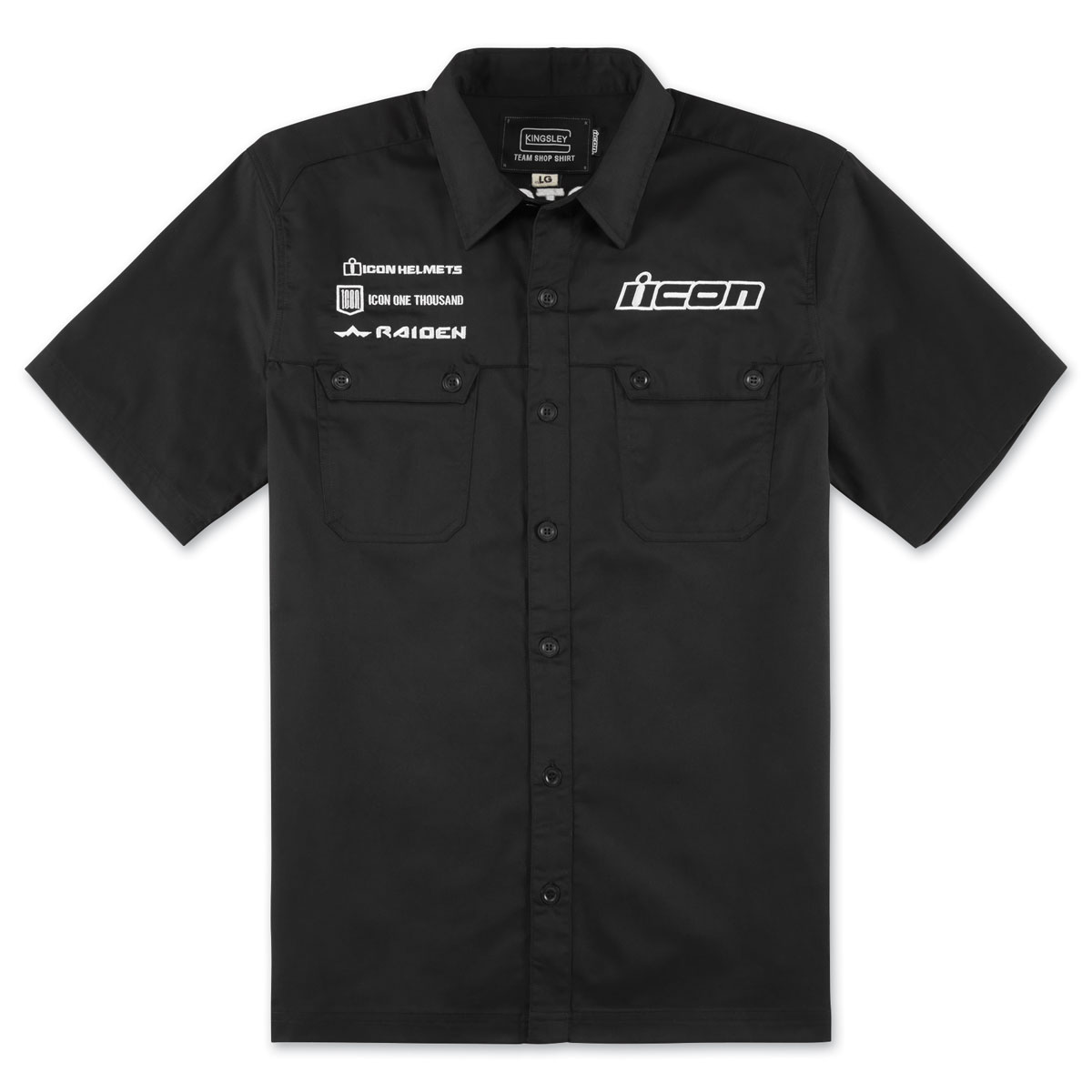 ICON Men's Kingsley Black Shop Shirt