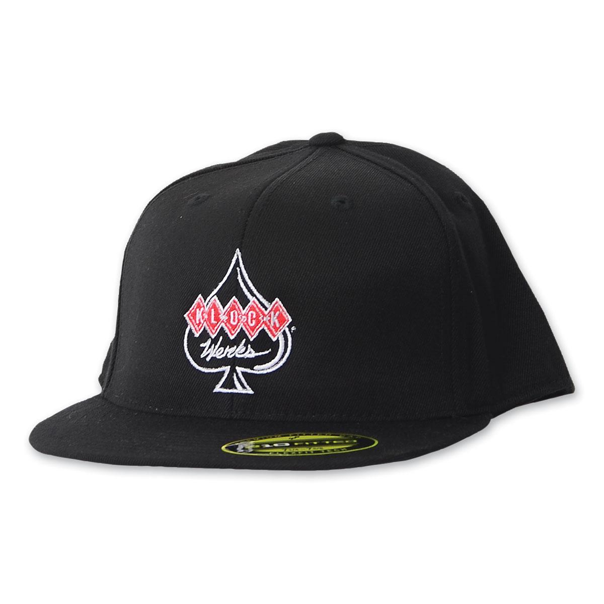 Klock Werks Center Logo Flatbill Black Cap