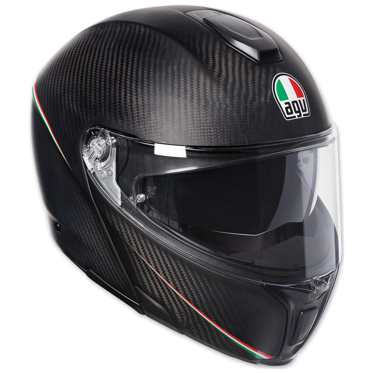 AGV Sport Modular Tricolore Matte Carbon Helmet