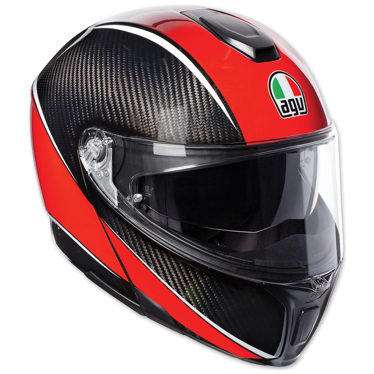 AGV Sport Modular Aero Carbon/Red Helmet