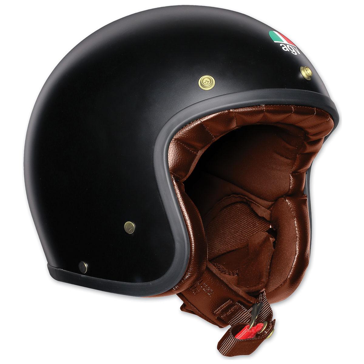 AGV X70 Matte Black/Gold Open Face Helmet