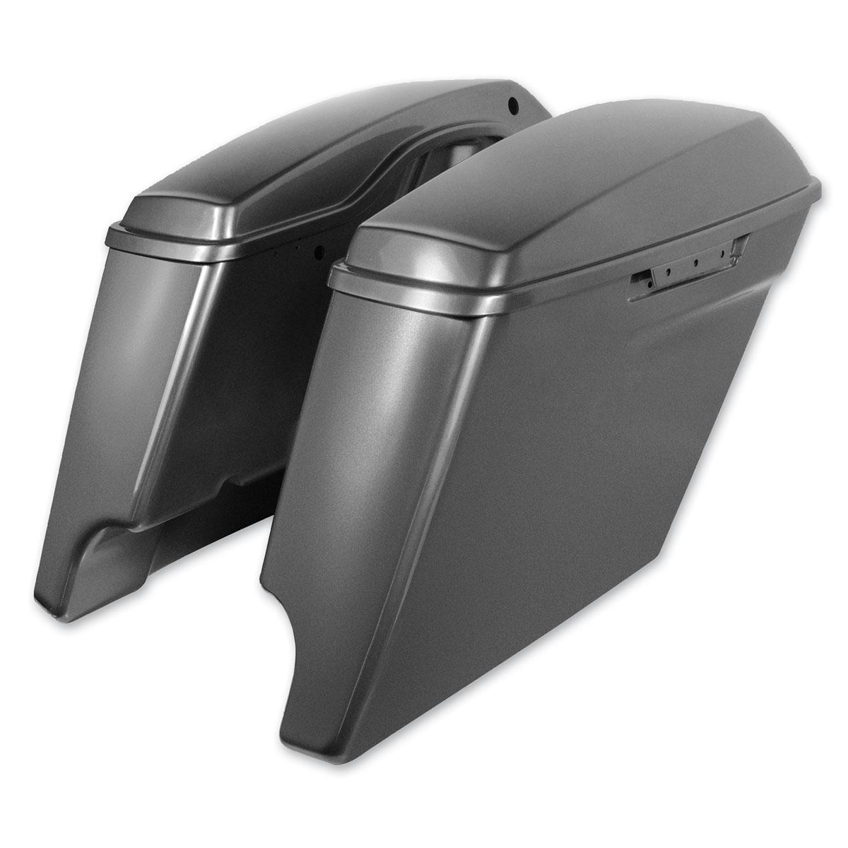HogWorkz Charcoal Pearl 4″ Extended Saddlebags