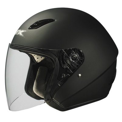AFX FX-43 Flat Black Open Face Helmet