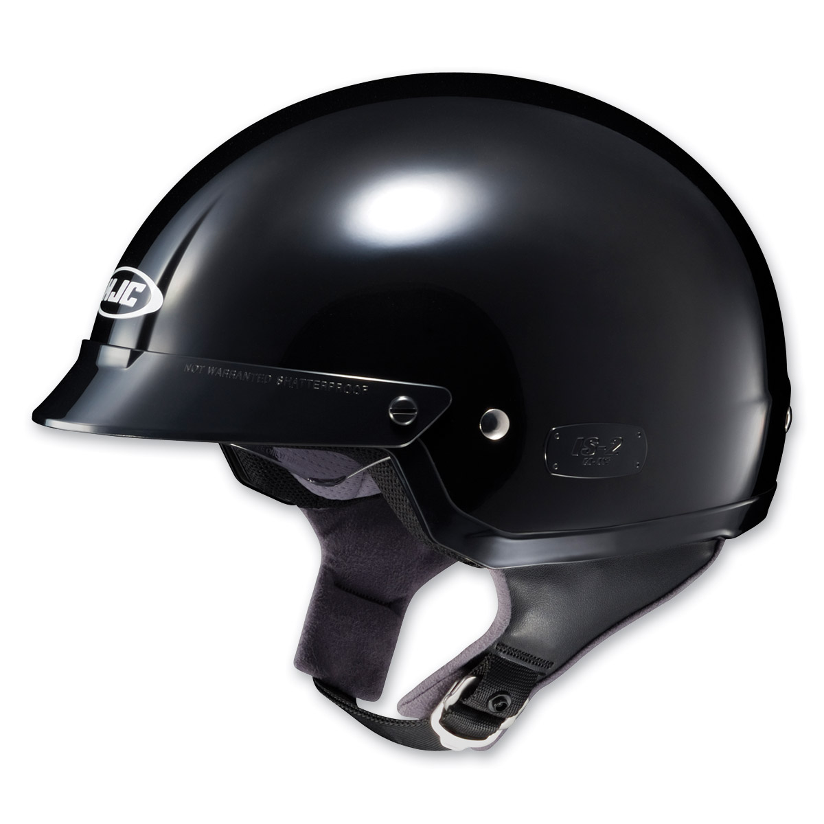 HJC IS-2 Black Half Helmet