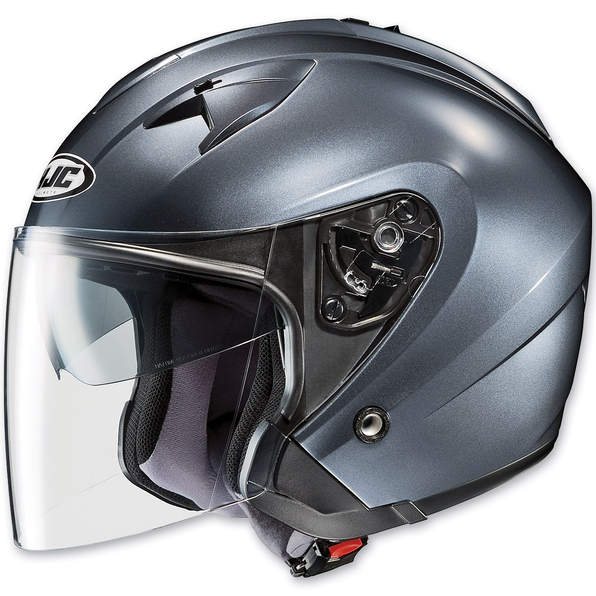 HJC IS-33 Metallic Rubbertone Anthracite Open Face Helmet
