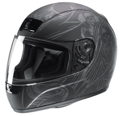 Z1R Phantom Purgatory Black Full Face Helmet
