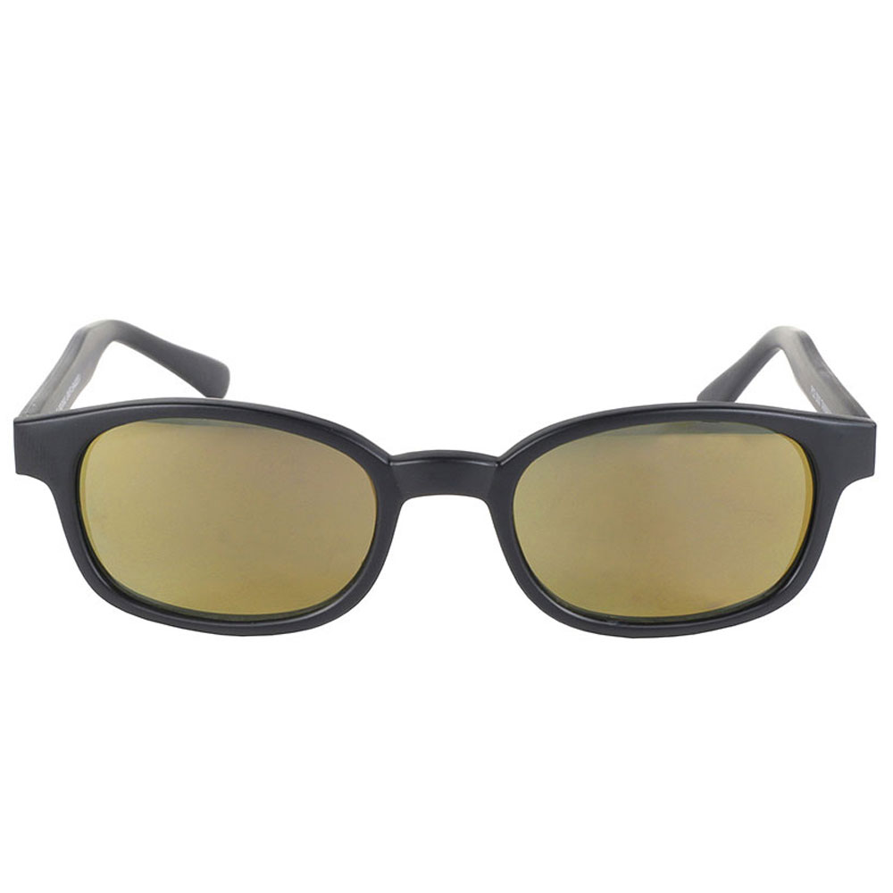 KD's Sunglasses - Black Frame with Gold Mirror Lens