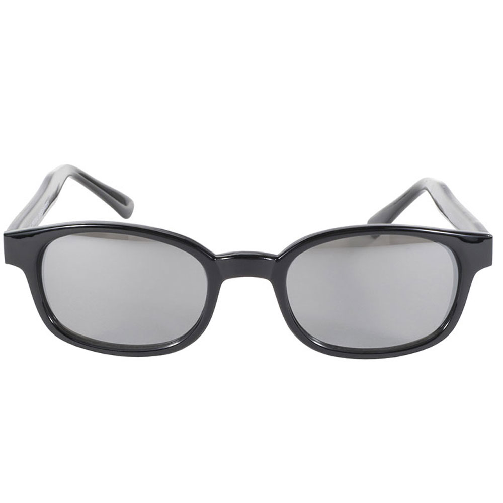 KD's Sunglasses - Black Frame with Silver Mirror Lens