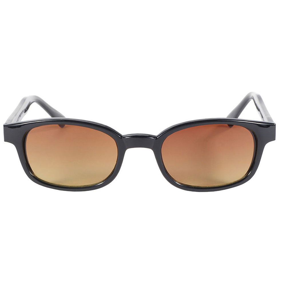 KD's Sunglasses - Black Frame with Blue Buster Amber Lens