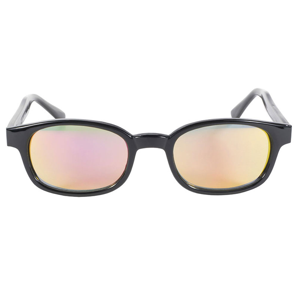 KD's Sunglasses - Black Frame with Clear Colored Mirror Lens