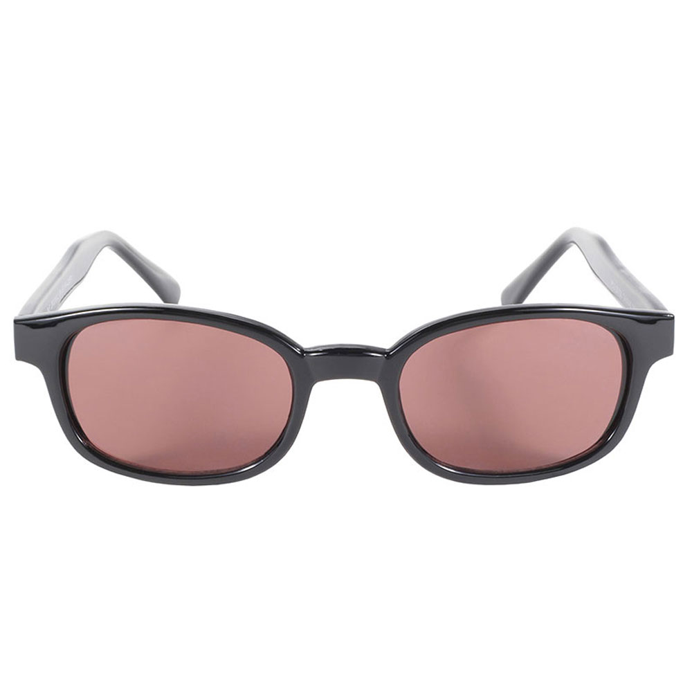 KD's Sunglasses - Black Frame with Rose Lens