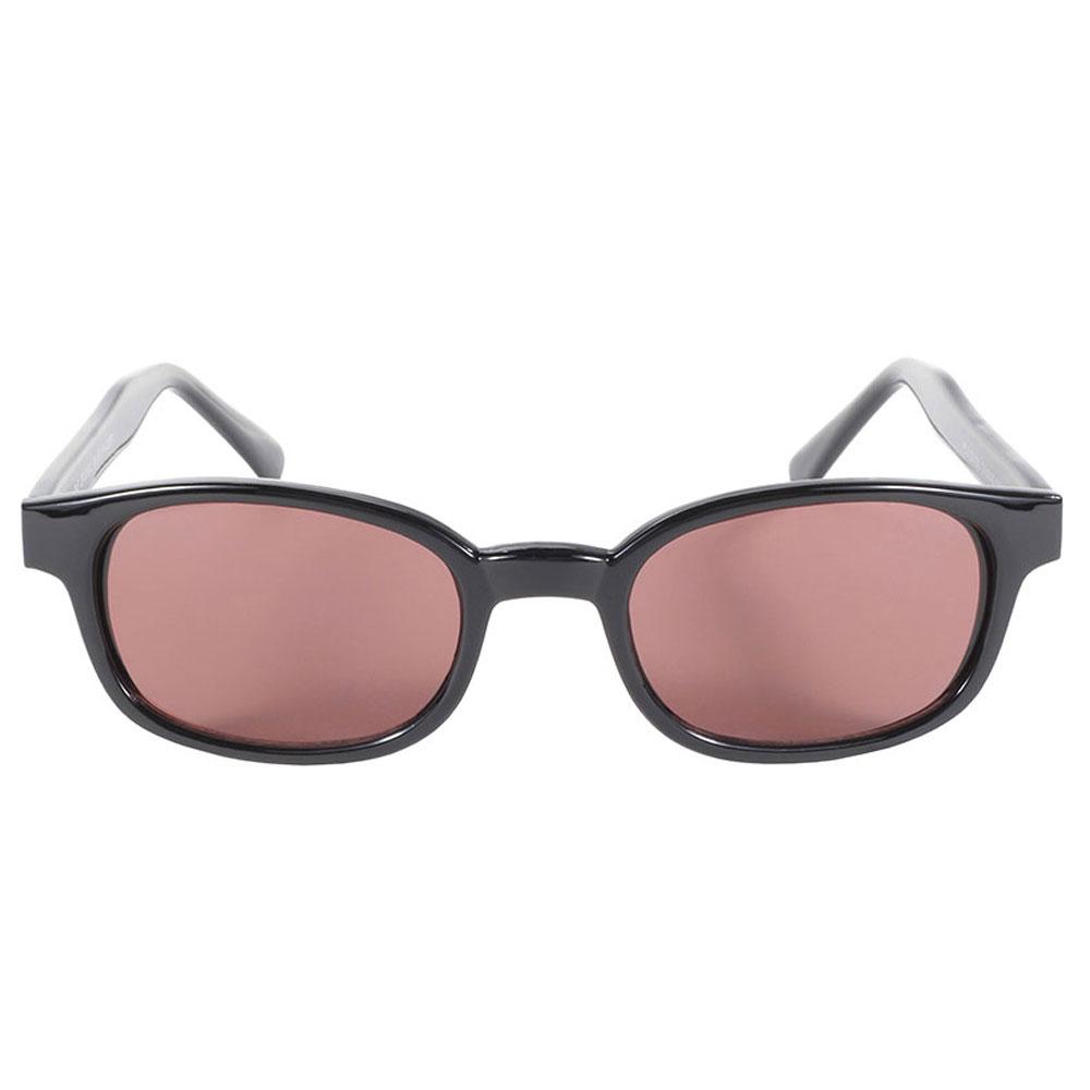 KD's Sunglasses - Black Frame with Rose Lens