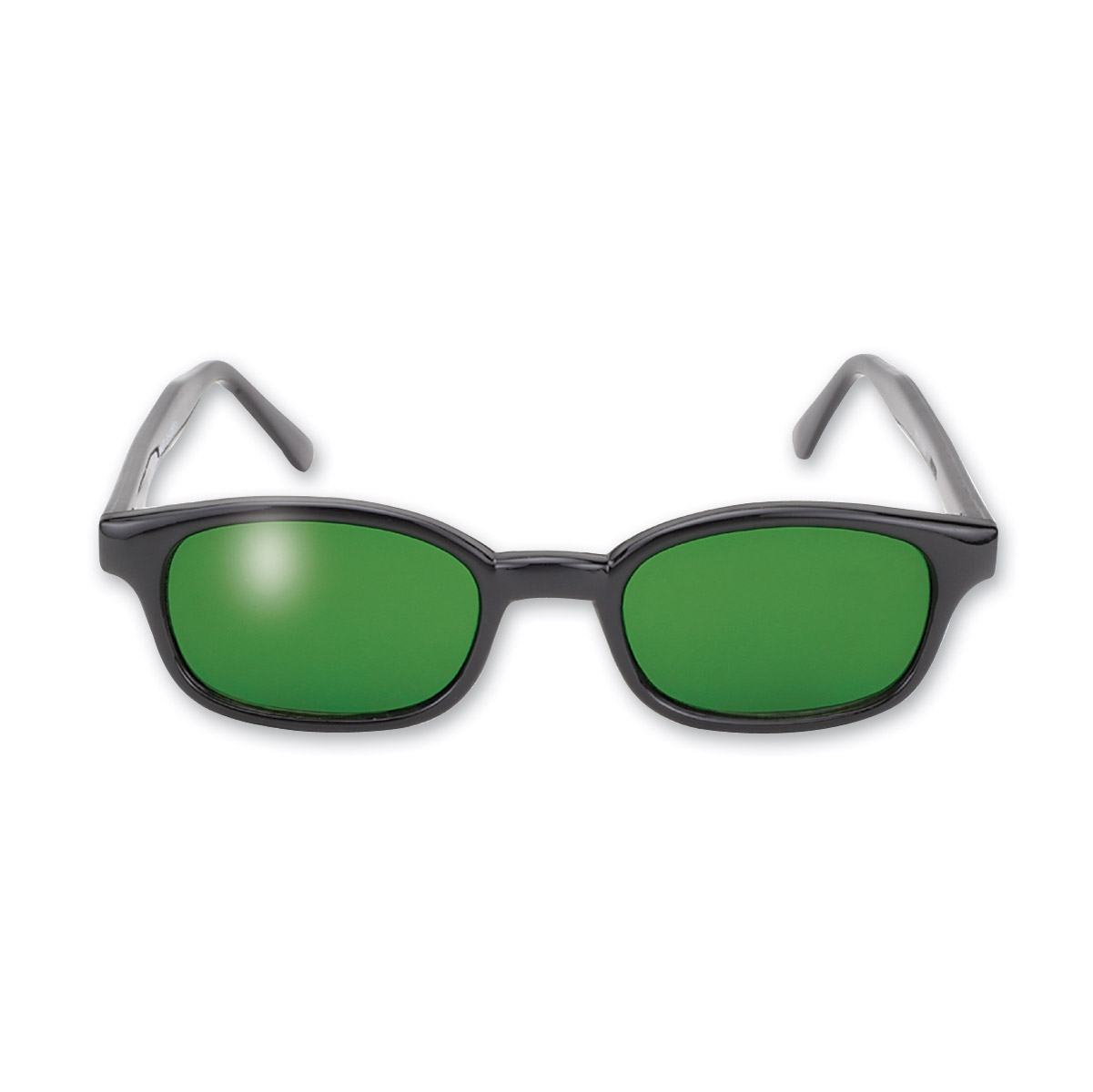 KD's Sunglasses - Black Frame with Dark Green Lens