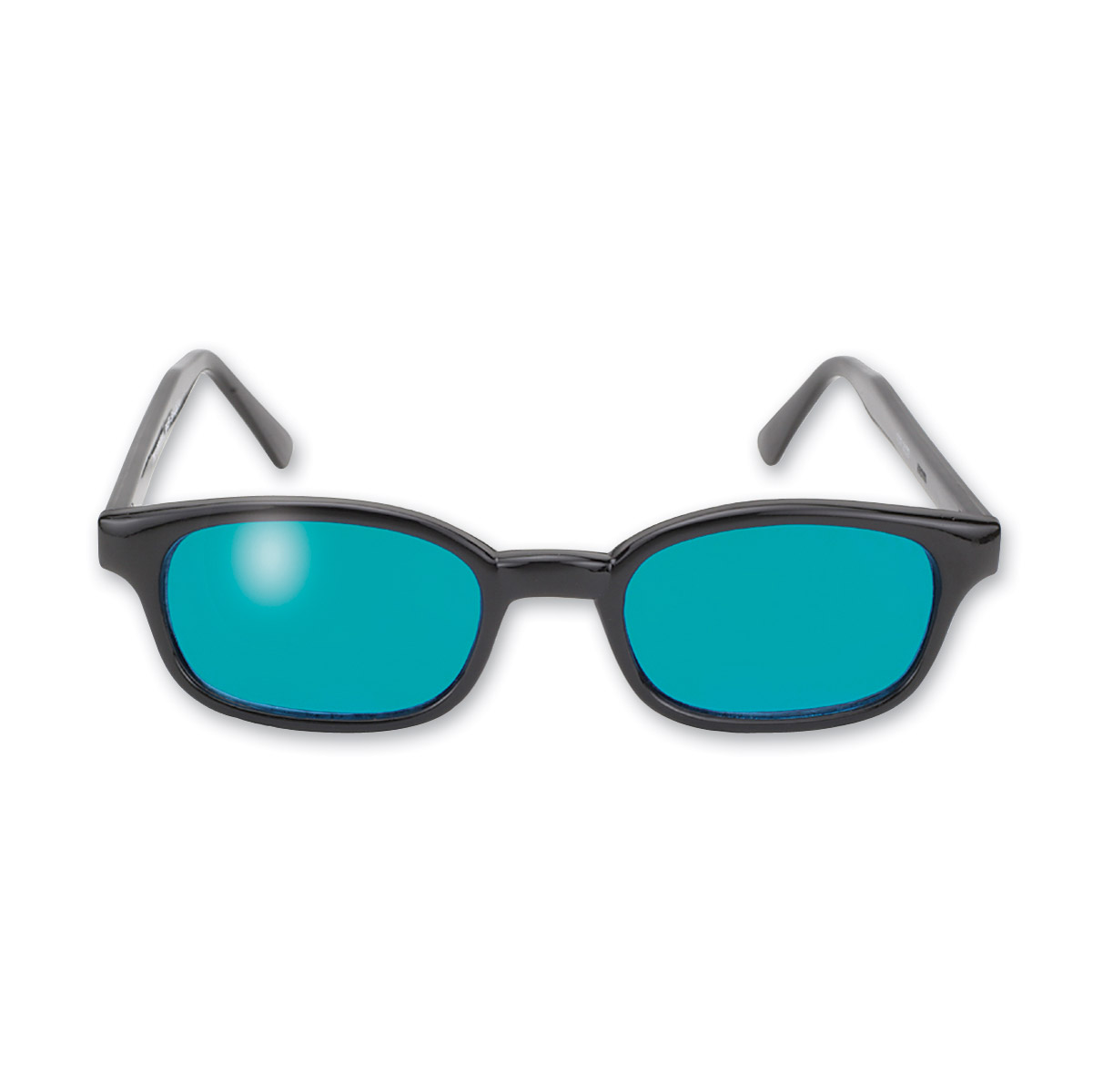 KD's Sunglasses - Black Frame with Turquoise Lens