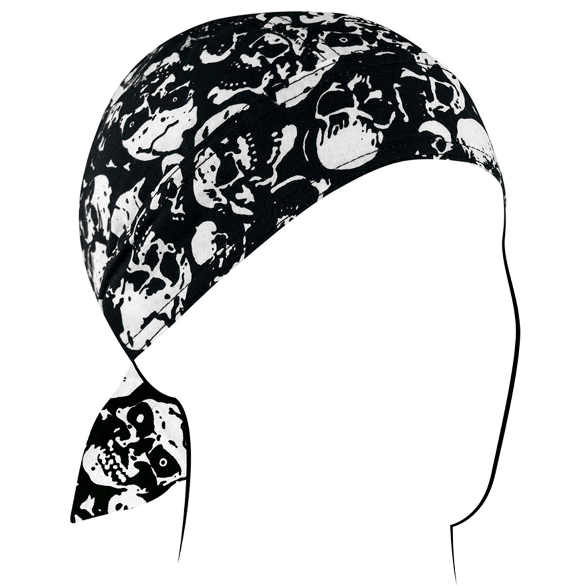 ZAN headgear Skull Print Head Wrap