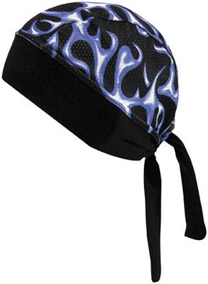 Schampa Stretch Z Blue Flames Headwrap