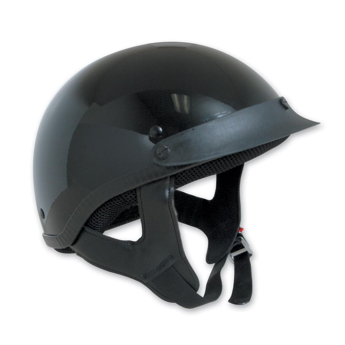 HCI-100 Designer Gloss Black Half Helmet