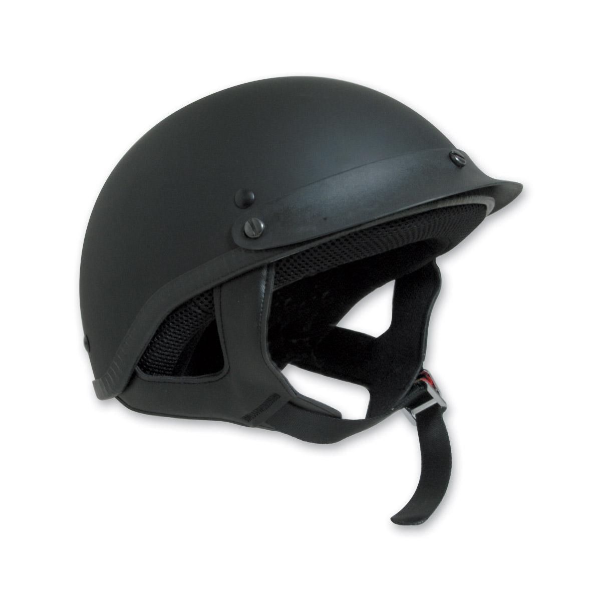 HCI-100 Designer Flat Black Half Helmet